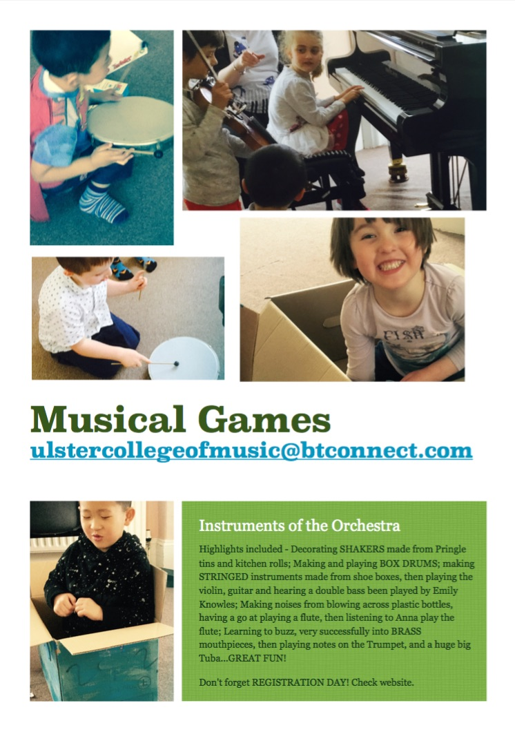 Musical Games summer 2016 Flyer