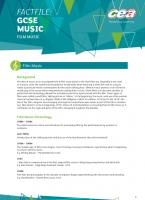 2) Film Music Analyses