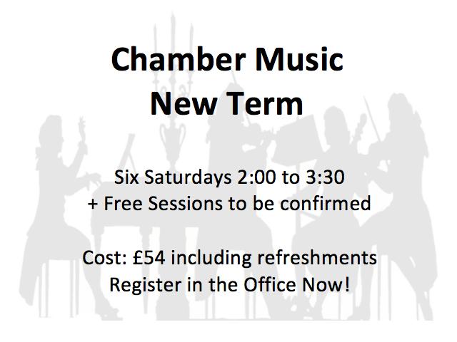 Chamber Music 2017 Term 1