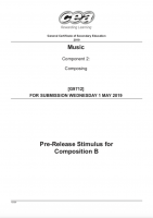 Stimulus for Composition B (2019)